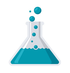 Laboratory flask icon vector