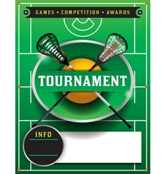 Lacrosse Tournament Blank Flyer Template vector image