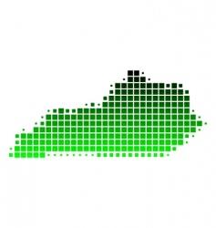 map of Kentucky vector image