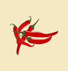 Red Chili Pepper Icon vector