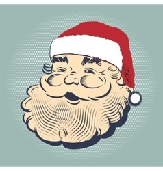 Santa Claus smiling head vector image