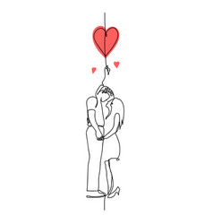 st valentines day romantic minimalistic vertical vector image