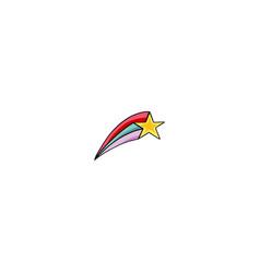 star rainbow icon vector image