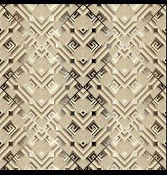 surface ornamental 3d ggreek seamless pattern vector image