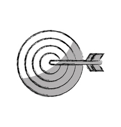 target arrow success isolated icon vector image
