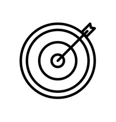 Target marketing icon vector