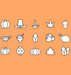 thanksgiving icon flat design vector image