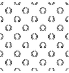 Trophy wreath pattern seamless vector