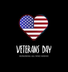 Usa veterans day designs with american flag vector