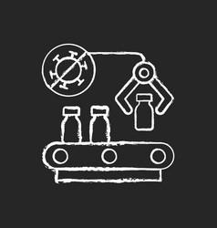 vaccine manufacturer chalk white icon on black vector image