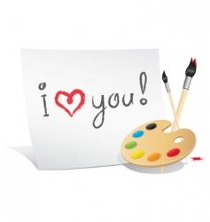 Valentine card artist vector