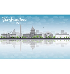 Washington DC city skyline vector image vector image