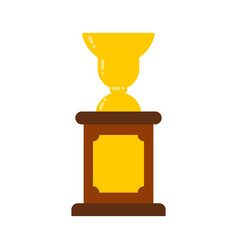 winner cup gold prize of championship tournament vector image