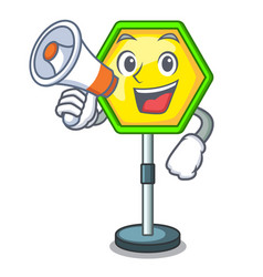 with megaphone character traffic sign regulatory vector image