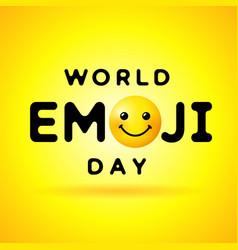 World emoji day smile banner vector