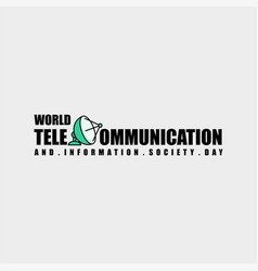 world telecommunication and information society vector image