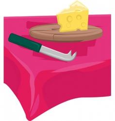 cheese board vector image vector image