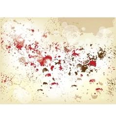 grunge background with splashes vector image