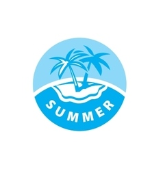 Logo beach vector