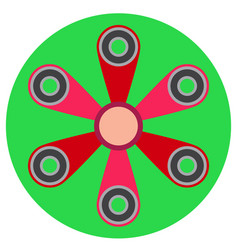 pink spinner with six blades a flat style vector image