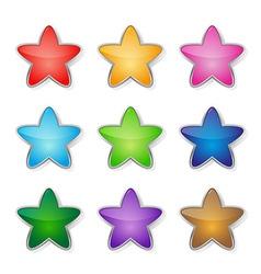 Set of multicolored stars vector image