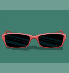sunglasses in pink frame of a classic style lie on vector image