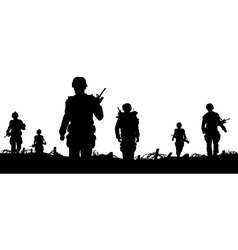 troops foreground vector image