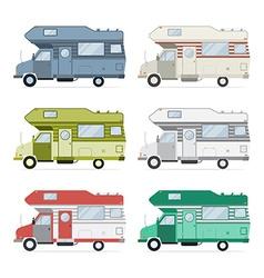 Camping Caravan Traveler Truck Collection vector image vector image