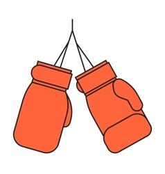 Pair of red leather boxing gloves vector