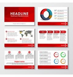 Set of web presentation slides vector image