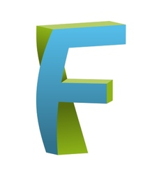 Twisted Letter F Logo Icon Design Template Element vector image vector image