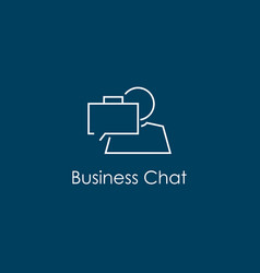 Business chat symbol vector