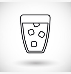 glass of water thin line web icon vector image vector image