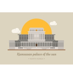 Kumsusan palace of the sun North Korea eps10 v vector image vector image