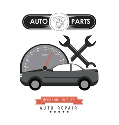 Mileage and wrench icon Auto part design vector image vector image