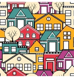 Seamless city vector image