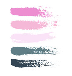 set of grunge brush strokes set of vector image vector image