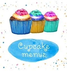 Cupcakes Menue vector image