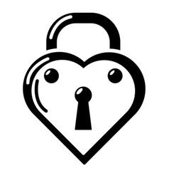 lock decorative icon simple black style vector image vector image