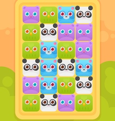 Match three mobile game user interface vector image
