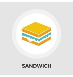 Sandwich icon flat vector image vector image