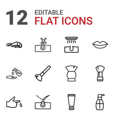 12 skin icons vector