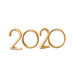 2020 new year holiday 3d golden numbers vector image