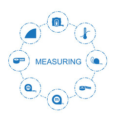 8 measuring icons vector
