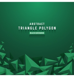 Abstract 3d triangle polygon background vector
