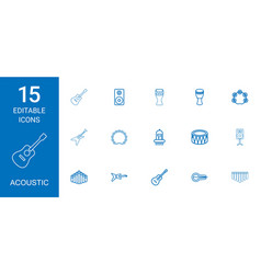 Acoustic icons vector