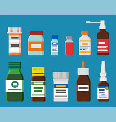 Ampoules bottles collection vector