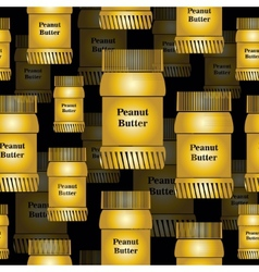 Bank peanut butter seamless background vector
