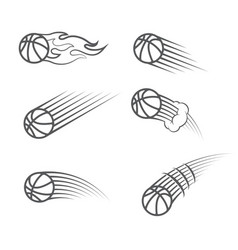 Basketball moving symbol vector