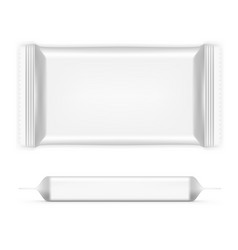 Big rectangular flow pack with shadows front and vector